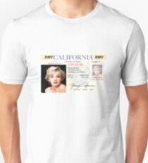 Marilyn Monroe Driver's License Unisex T-Shirt