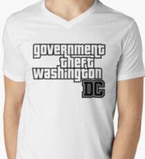 Government Theft Washington DC Mens V-Neck T-Shirt