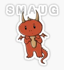 Smaug | Dragon [with text] Sticker