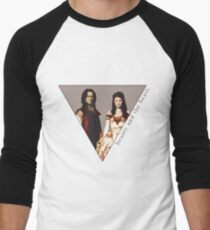The picture of a beauty and her beast. Men's Baseball ¾ T-Shirt