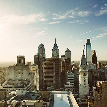 Philadelphia Skyline, October 2013 by PHLBike