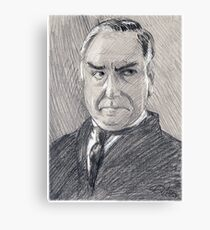 Charles Carson of Downton Abbey Canvas Print