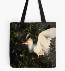 Settling in for The Night Tote Bag