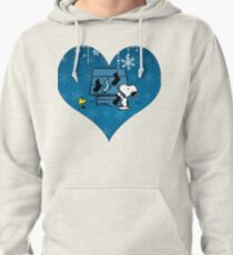 Snoopy Blue Holiday  Pullover Hoodie