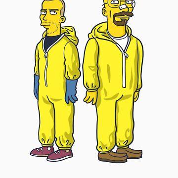 Walter White & Jesse by Simpsonized