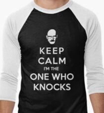 Keep Calm Im The One Who Knocks Men's Baseball ¾ T-Shirt
