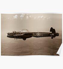 Dambusters Lancaster AJ-N sepia version Poster