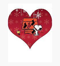 Snoopy Red Holiday Photographic Print