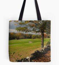 Fall on the golf course Tote Bag
