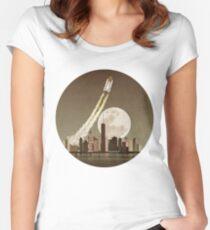 Rocket City Tailliertes Rundhals-Shirt