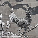 Cock on block by Richard G Witham