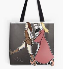Gallifrey: we are a team! BLACK PRINT Tote Bag