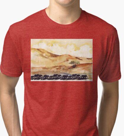 African Silhouettes Tri-blend T-Shirt