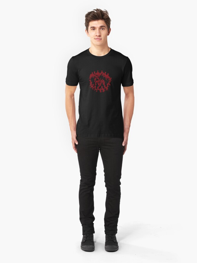 Alternate view of Surrounded by Death Slim Fit T-Shirt