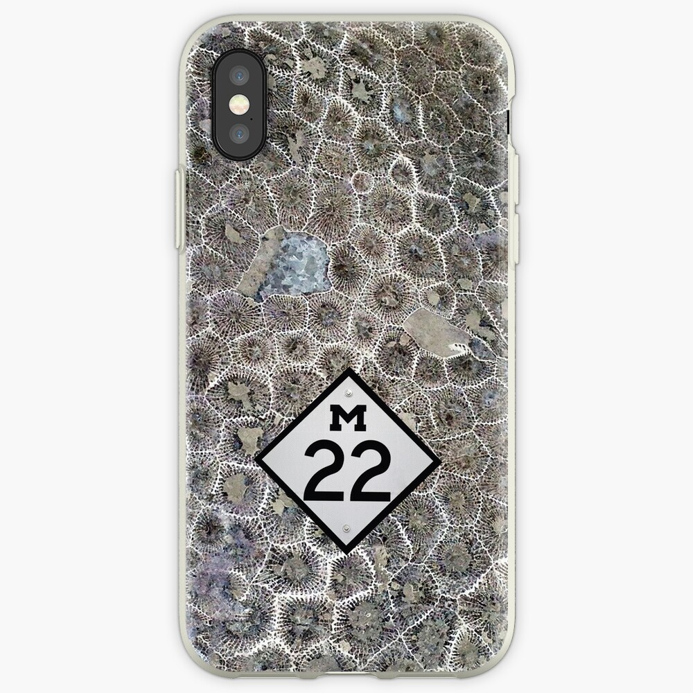 Petoskey Stone, M22, Pure Michigan Funda y vinilo para iPhone