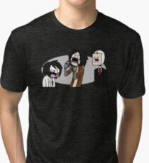 Creepypasta Funny Faces Tri-blend T-Shirt