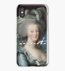 Cut Here - Marie Antoinette iPhone Case
