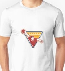 Bowler Pose Bowling Ball Pins Retro T-Shirt