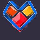 Love Cubes Blue by milkymilkface