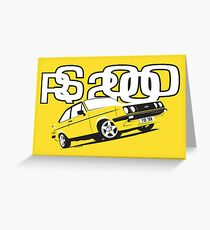Ford RS2000 Mk2 Greeting Card