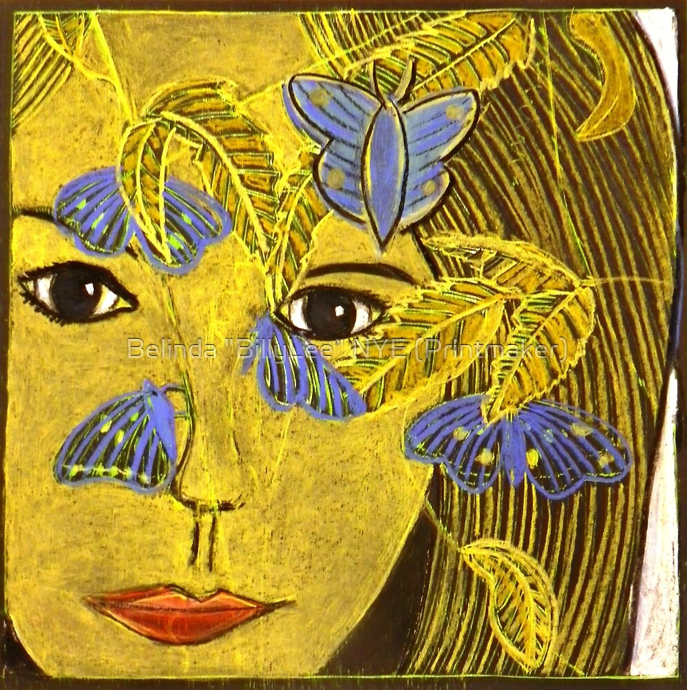 "The Blue Butterfly by Belinda ""BillyLee"" NYE (Printmaker)"