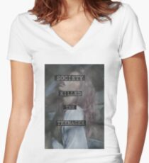 Society Killed the Teenager Women's Fitted V-Neck T-Shirt