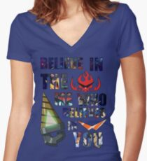 Gurren Lagann Kamina Quote Women's Fitted V-Neck T-Shirt