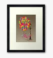 Love to Ride my Bike with Balloons even if it's not practical. Framed Print