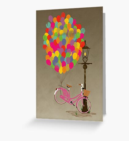 Love to Ride my Bike with Balloons even if it's not practical. Greeting Card