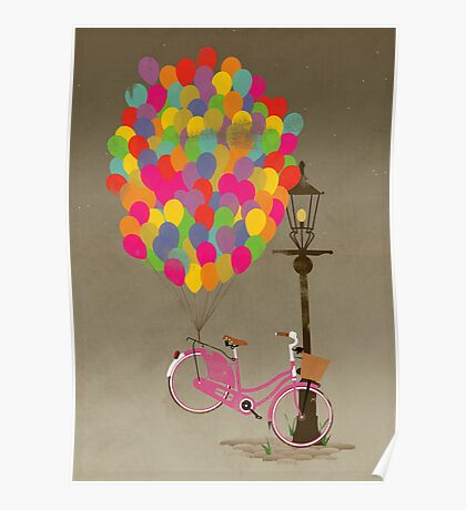 Love to Ride my Bike with Balloons even if it's not practical. Poster