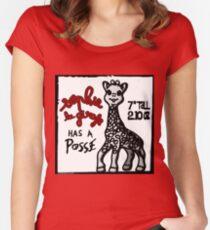 Sophie la Girafe Has A Posse Giraffe Retro Women's Fitted Scoop T-Shirt
