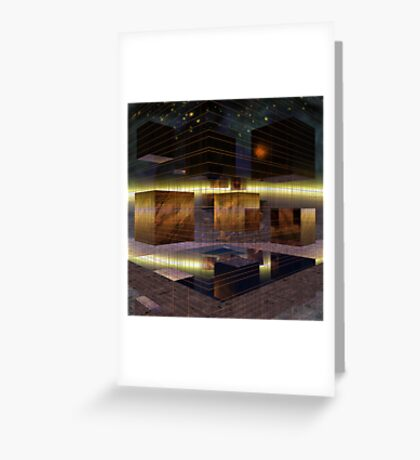 Squares and Mirrors Greeting Card