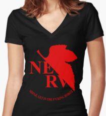 Evangelion NERV Tee Women's Fitted V-Neck T-Shirt