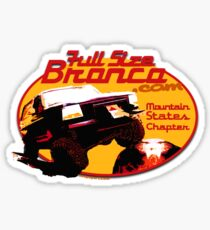 Ford Bronco Full Size Mountain States 4x4 fullsizebronco.com Sticker