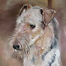 Raffi, Airedale Terrier by Marie Theron