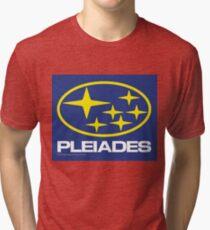 Pleiades Mythology Esoteric Mystery School Subaru Auto Logo Tri-blend T-Shirt