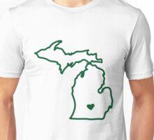 Green & White Unisex T-Shirt