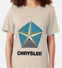 Chrysler Pentagram Pyramid Pentagon Esoteric Automotive Symbol Logo Slim Fit T-Shirt