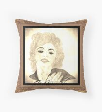 Maradonna In Between Of Maralyn Manroe And Madonna Vintage Throw Pillow