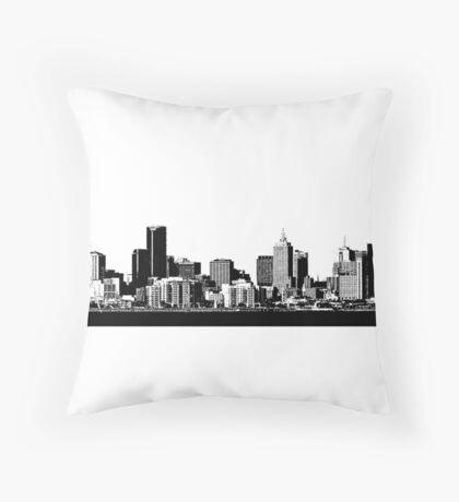 melbourne skyline Throw Pillow