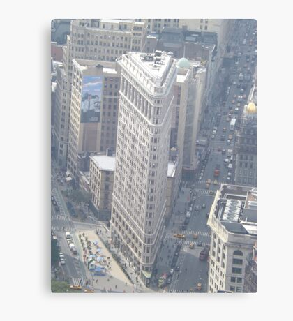 Aerial View of Flatiron Building, As Seen From Empire State Building Observation Deck, New York City City Canvas Print