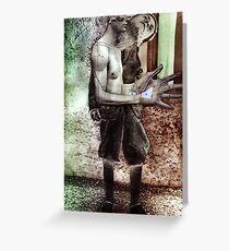 Bauhaus Worker 1. Greeting Card
