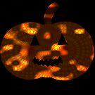 Spooky Spirograph Halloween Pumpkin (in darkness!!)  by RachelEDesigns
