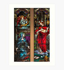St. Margaret Mary Alacoque and Sacred Heart of Jesus Art Print