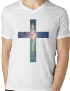 A Cross in the Stars Mens V-Neck T-Shirt