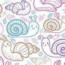 Cute little snails pattern by oksancia