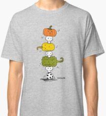 Pumpkin Skull Totem Pole Classic T-Shirt