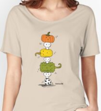 Pumpkin Skull Totem Pole Women's Relaxed Fit T-Shirt