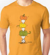 Pumpkin Skull Totem Pole T-Shirt