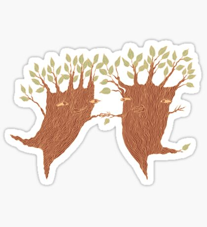 Dancing Trees Sticker